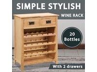 Wine Cabinet 72x32x90 cm Solid Oak Wood-247043