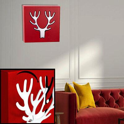 Ropa Gancho Pared Armario Cromo Cornamenta de Ciervo Plegable Salón Imagen Rojo