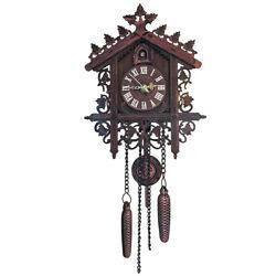 2019 Vintage Wooden Cuckoo Wall Clock Tree House Design Hanging Pendulum Weights