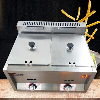 12l Deep Fryer Commercial Countertop Gas Fryer Ng Lpg Stainless Steel Gas Fryers