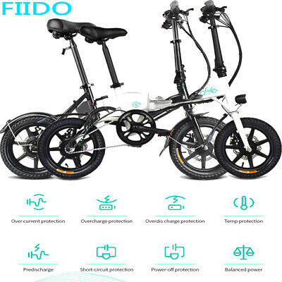 "FIIDO D1/D2/D3 14""/16"" Foldable Electric Bicycle Moped E-Bike 250W Motor  EU"