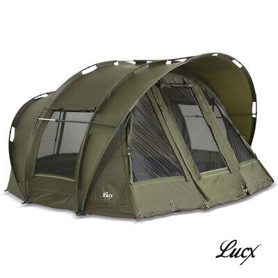"Lucx Carp Tent Bivvy 1, 2, 3 Mann Fishing "" Leopard "" Dome Camping"