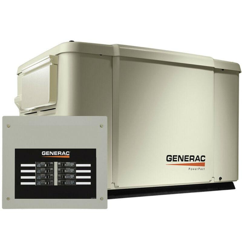 Generac 7.5/6 kW Standby Generator w/ Automatic Transfer Switch 69981 New