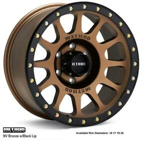 method race wheels NV (Bronze w Black Lip)