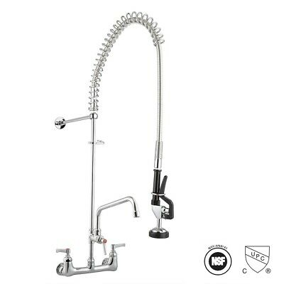 "Aquaterior® Commercial Pre-Rinse Faucet Swivel with 12"" Add-On Faucet CUPC NSF"
