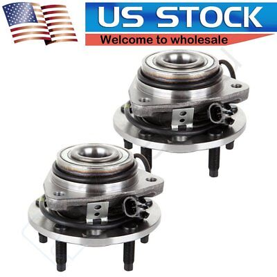 2 New Front Complete Wheel Hub and Bearing Assembly for Chevy Blazer Isuzu -4WD