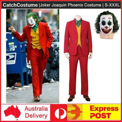 Joker 2019 Joaquin Phoenix Arthur Fleck Cos Costume Set Full Suit Mask