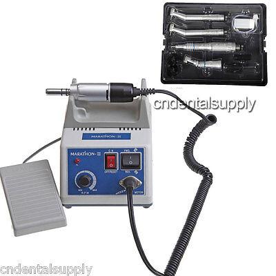 Dental Electric Micromotor Marathon Polisher Low High Speed Handpiece Kit