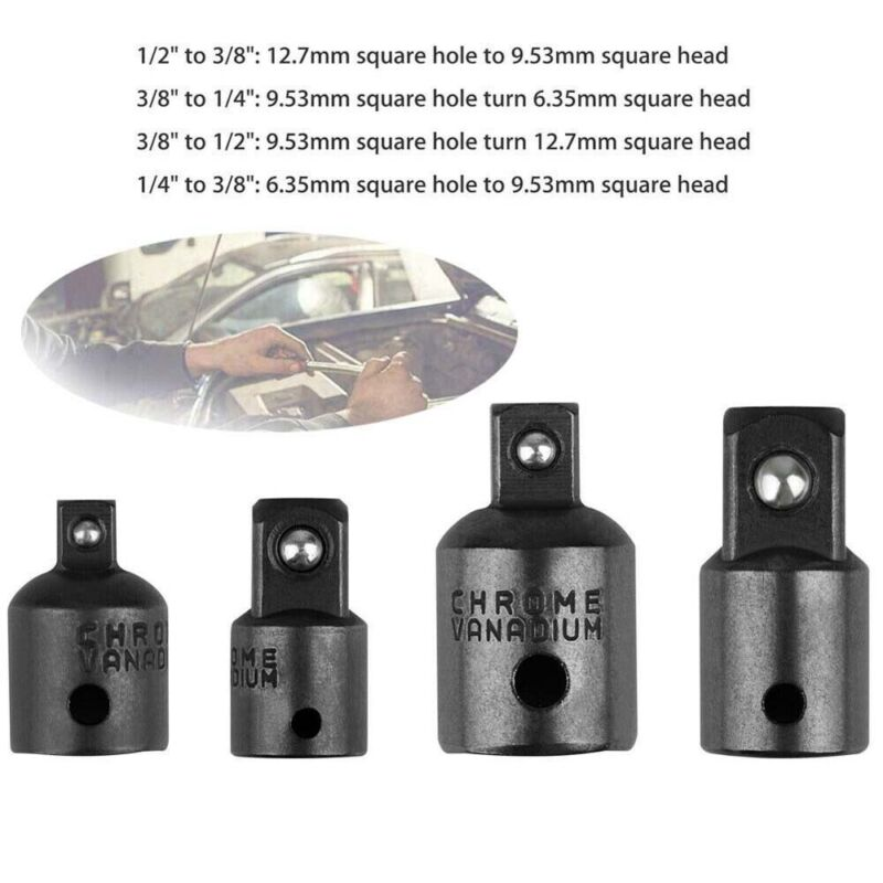 """3//8/"""" to 1//4/"""" 1//2 inch Drive Ratchet Socket Adapter Reducer Air Impact Tool Kit"""