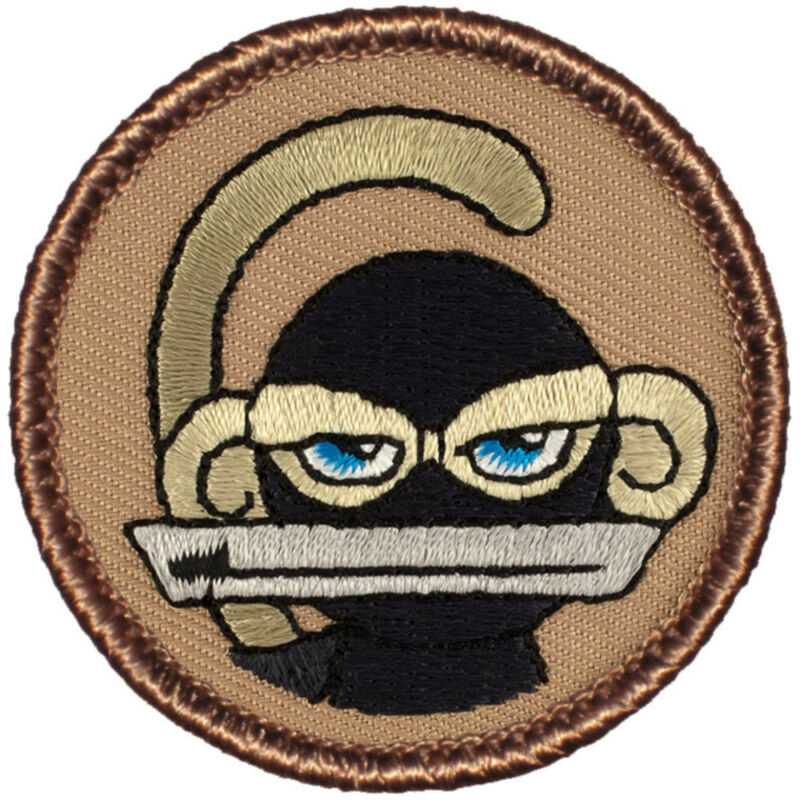 Cool Boy Scout Patch - Ninja Monkey Patrol! (#244)