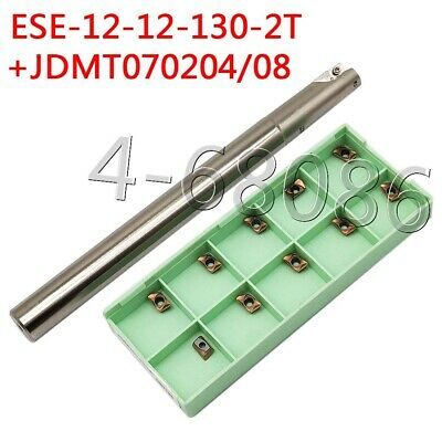 Ese-12-12-130-2t 2flute Small Diameter End Mill Jdmt0702 Cnc Carbide Inserts