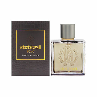 Roberto Cavalli Uomo Silver Essence by Roberto Cavalli for Men 3.4 oz EDT (Roberto Cavalli Man)