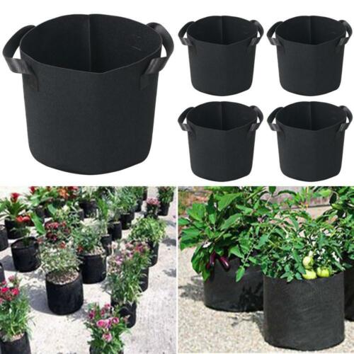 5pcs 5 Gallon Felt Pots Plant Pouch Root Container Grow