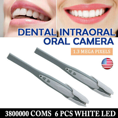 2pc Dental Camera Intraoral Focus Digital Usb Imaging Intra Oral Clear Image Top