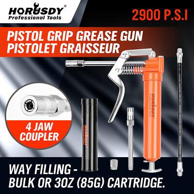Mini Grease Gun Pistol Grip w/ 3 oz Lubricating Cartridge Greas Lube Refillable