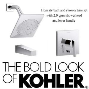 NEW Honesty bath and shower trim set with 2.0 gpm showerhead and lever handle for Rite-Temp pressure-balancing valve...