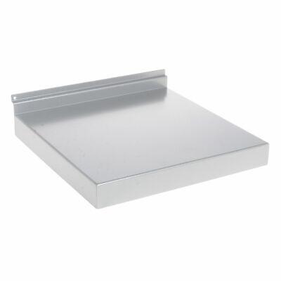 12w Metal Slatwall Shelf Silver