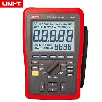 Uni-t Ut620b Digital Micro Ohm Meters 6.0000k Ohm Tester With Usb Transmission