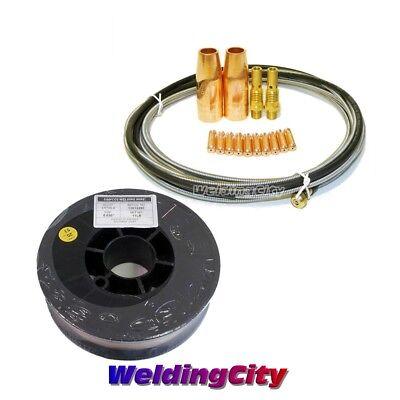 Mig Gun Accessory Kit .023 For Lincoln 100l Welding Wire Er70s-6 11-lb M1w