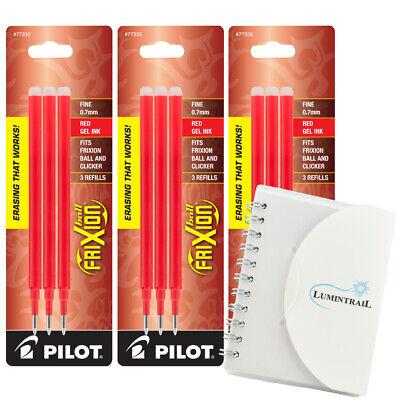 Pilot Refills Frixion Erasable Gel Ink Pen Fine Point - Red - 3 Pk Memo Pad