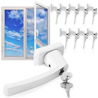 10x Fenstergriff abschließbar Sicherheitsfenstergriff Kindersicherung weiß Stahl