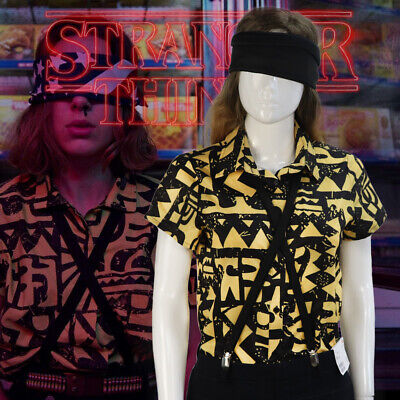 Stranger Things 3 Eleven Cosplay Costume EL Shirt Halloween Carnival Party Props
