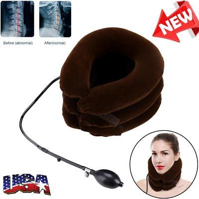 Traction Neck Pillow (Air Inflatable Pillow Cervical Neck Headache Pain Traction Support Brace)