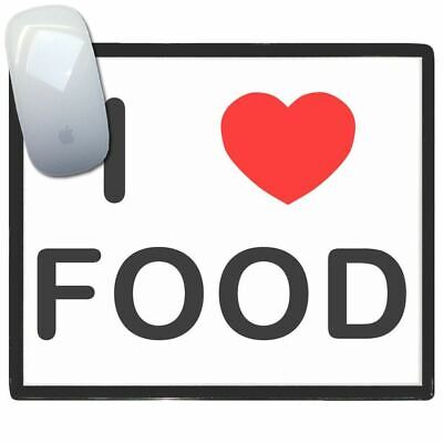 I Love Heart Food - Thin Pictoral Plastic Mouse Pad Mat Badgebeast