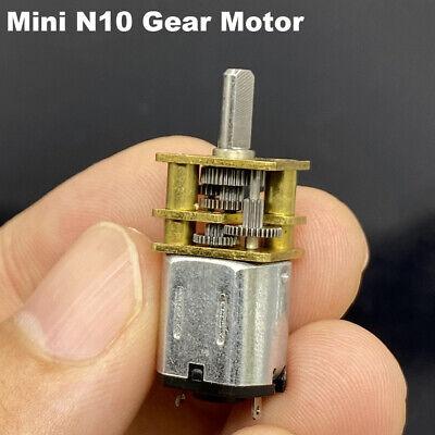 Dc 3v-5v N10 Mini Metal Gear Motor Micro Gearbox Slow Speed Diy Car Smart Robot