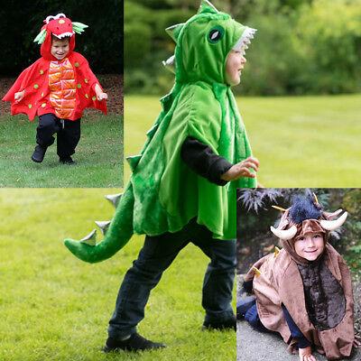TODDLER BOYS GIRLS KIDS DRAGON DINOSAUR MONSTER  CAPE COSTUME OUTFIT AGE 1-2-3 (Girl Dragon Costume Toddler)