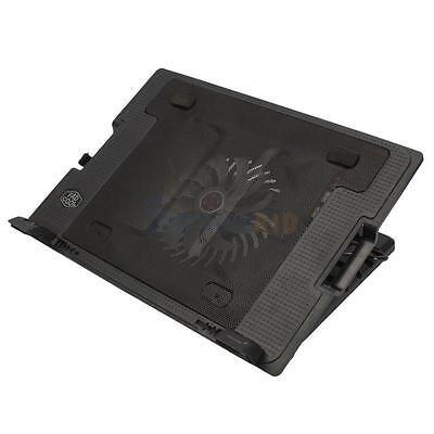 """USB 9-17"""" Tablet Laptop Cooling Stand Pad Big Fan Adjustable Cooler 40000 hours"""