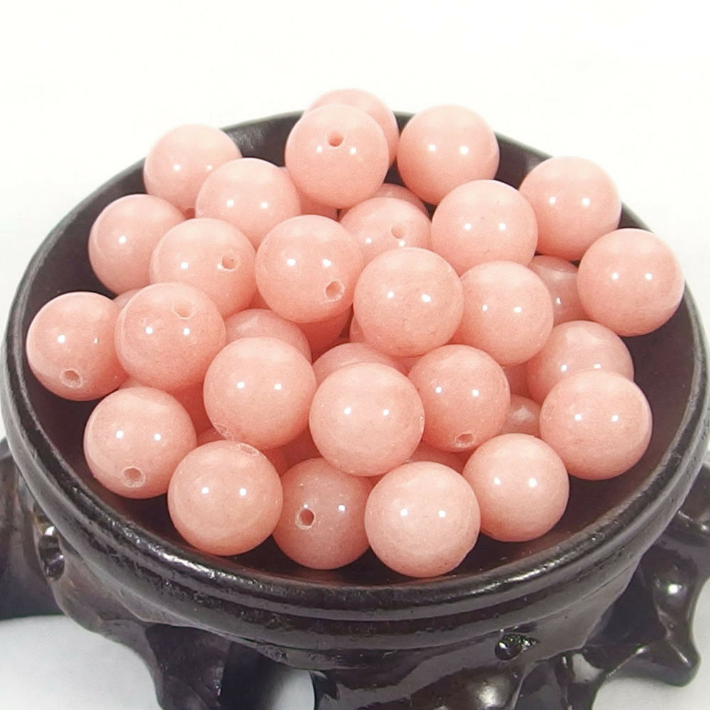 Bulk Gemstones I natural spacer stone beads 4mm 6mm 8mm 10mm 12mm jewelry design light pink jade