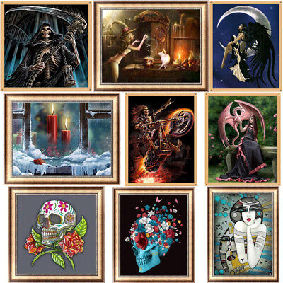 Happy Halloween DIY 5D Diamond Painting Art Drill Cross Stitch Kit Home Decor](Diy Halloween Decoration)