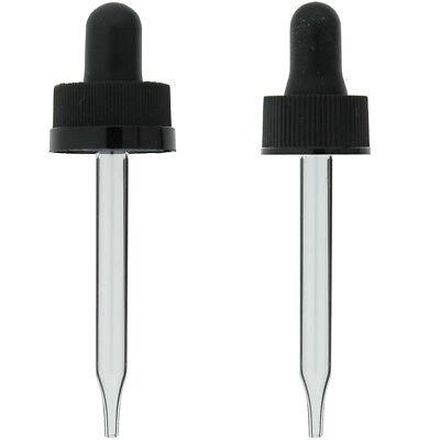 12 Oz 15ml Glass Eye Dropper For Boston Bottles 18-400 Cap