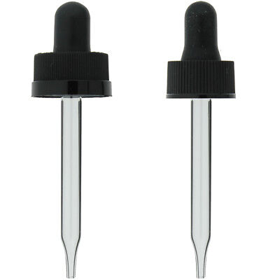 12 Oz 15ml Glass Eye Dropper For Bottles 18-400 Cap 6 12 24 72 144 288 Lot