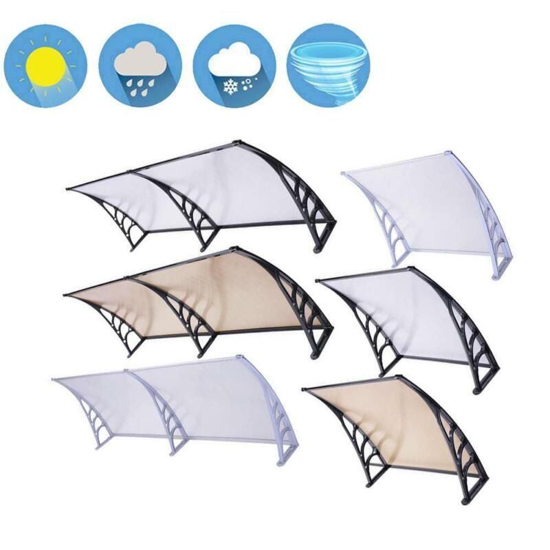 """40x120""""/80""""/40""""/32""""Door Window Outdoor Awning PC Hollow Sheet Shade Cover Canopy"""