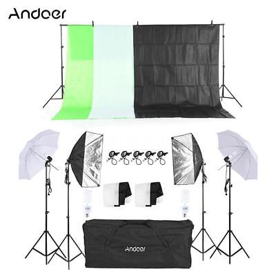 Photography Kit Soft Light Umbrella 4Pcs Bulb 2Pcs Swivel Socket for Photo H0J8