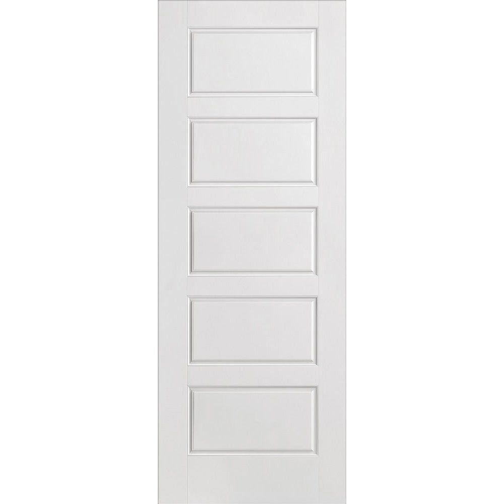 White Internal Doors 5 Panel Smooth Moulded Primed White Interior