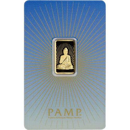 5 gram Gold Bar - PAMP Suisse - Buddha - 999.9 Fine in Assay