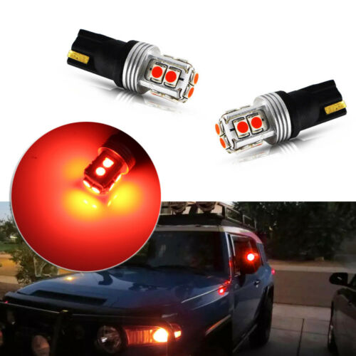2pcs Brilliant Red Led Side Mirror Light Bulbs Fit For