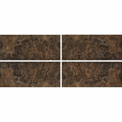 Exotic Walnut Burl Wood Veneer Rawunbacked 4 Pc Pack - 16 X 36 Total