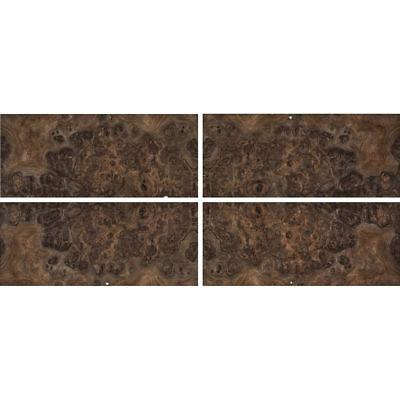 Exotic Walnut Burl Wood Veneer Rawunbacked 4 Pc Pack - 16 X 36 Total