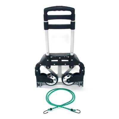 Portable Luggage Cart Aluminum Folding Hand Truck Dolly Warehouse Trolley 165lbs