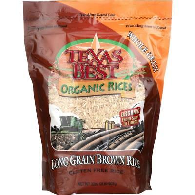 Texas Best Organics-Long Grain Brown Rice (6-32 oz
