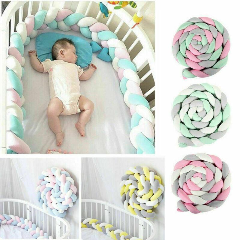 Crib Bumper Pad Protector Baby Bed Bedding Knot Newborn Cushion Home Decor