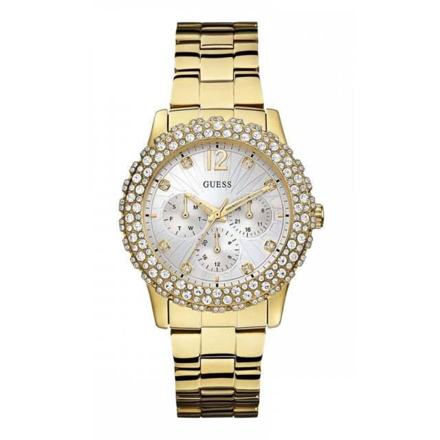 Guess Watches W0335L2 Ladies Dazzler Watch Stone Encrusted Bezel