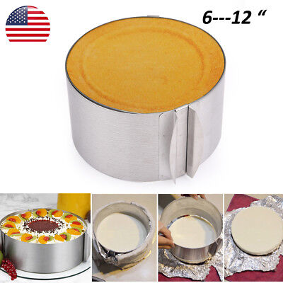 Adjustable Round Cake Mold Bread Toast DIY Baking Mould Tool for 6-12