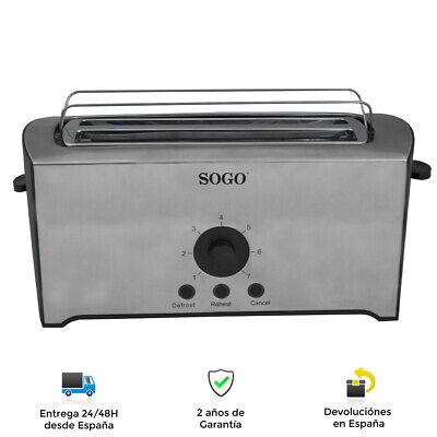 Tostadora para 2 o 4 rebanadas 1600W - Regulador de Temperatura, Soporte...