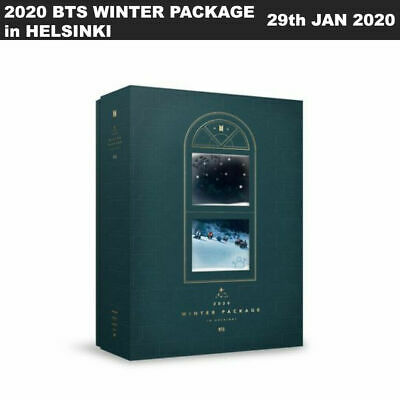 2020 BTS WINTER PACKAGE in HELSINKI Case+Book+DVD+Etc+Box Packing+Tracking Num