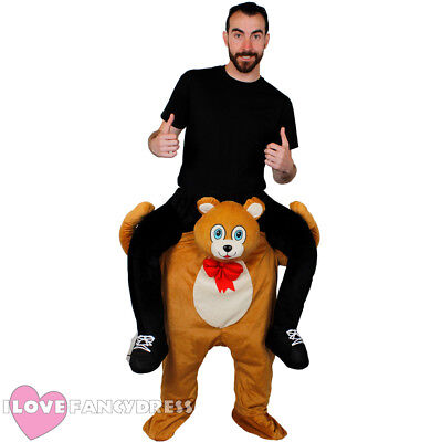 TEDDY BEAR PICK ME UP COSTUME ADULT FUNNY RIDE ON FANCY DRESS STAG MASCOT - Funny Bear Costumes